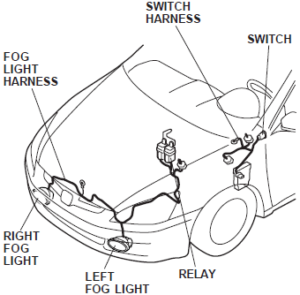 Led Wiring Npn Diagram Multiple Lights furthermore Mazda 3 Fog Light Wiring Diagram furthermore Volvo 440 460 Harness Wiring Diagram Up To 1991 further 201379834795 besides 5 Pin Relay Wiring High Low. on wiring harness for fog lights