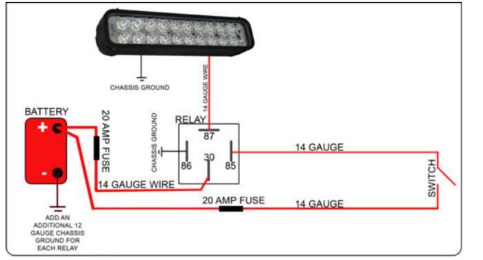 Diagram Wiring Led Light Bar, Led Lights Wiring Diagram